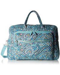 Vera Bradley Iconic Grand Weekender Travel Bag, Signature Cotton - Blue
