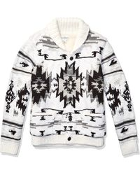 Lucky Brand Sherpa Lined Southwestern Cardigan Sweater - Multicolor