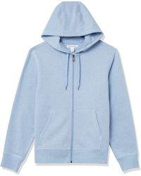 Amazon Essentials Full-Zip Hooded Fleece Sweatshirt Fashion-Hoodies - Blu