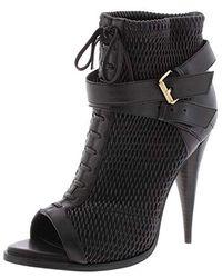 BCBGMAXAZRIA Gia Peep Toe Bootie Ankle Boot - Black