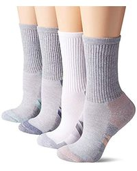Amazon Essentials 6-pack Performance Cotton Cushioned Athletic Crew Socks - Gray
