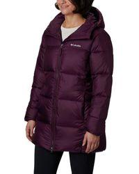Columbia Puffect Mid Hooded Jacket - Purple
