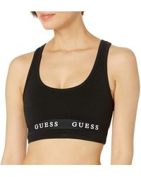 Guess Active Stretch Jersey Sports Bra - Black