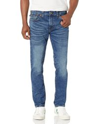 True Religion Rocco Skinny Fit Jean With Back Flap Pockets - Blue