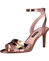 Nine West - Incheck Synthetic Heeled Sandal - Lyst