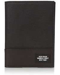 Jack Spade Waxwear Passport Wallet - Black
