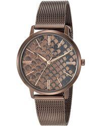 Vince Camuto Snake Pattern Dial Mesh Bracelet Watch - Brown