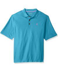 Izod - Size Big & Tall Advantage Performance Short Sleeve Solid Polo Shirt - Lyst