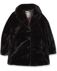 Vince Camuto Chic And Warm Faux Fur Jacket - Black