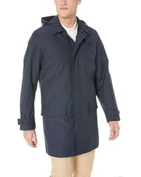 Lacoste Cotton/nylon 2 In 1 Hooded Raincoat - Blue