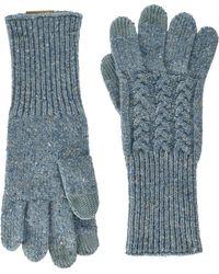 Pendleton Cable Gloves - Blue