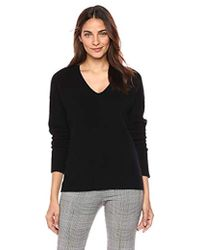 Theory - Relaxed Vneck Pullover Sweater - Lyst