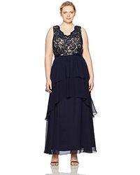 Eliza J - Plus Size V-neck Sleeveless Gown - Lyst
