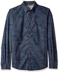 Buffalo David Bitton - Sadern Long Sleeve Full Button Down Shirt - Lyst