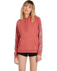 Volcom Deadly Stones Hooded Fleece Sweatshirt - Red