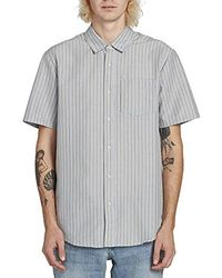 9f8e89c9 Gucci Invite Stamp Bowling Shirt in Natural for Men - Lyst