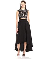 Aidan By Aidan Mattox - Lace Two Piece Gown - Lyst