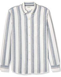 Goodthreads Slim-Fit Long-Sleeve Pattern Chambray button-down-shirts - Blau