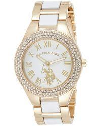 U.S. POLO ASSN. Analog-quartz Watch With Alloy Strap - White
