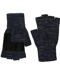 Levi's - Heathered Knit Fingerless Gloves - Lyst