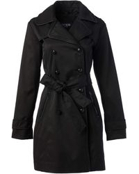 Guess Double Breasted Trenchcoat - Black