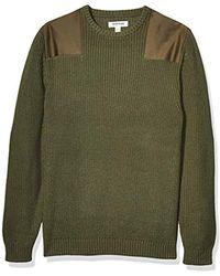 Goodthreads Soft Cotton Military Sweater - Green