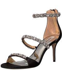 83a59e4878f0 Lyst - Badgley Mischka Yasmine Crystal Embellished Sandal in Metallic