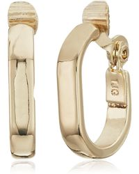 Anne Klein Gold Tone Clip Earrings - Metallic