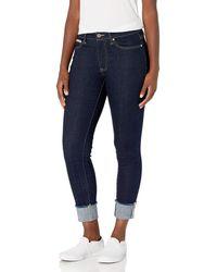 Tommy Hilfiger Tribeca Skinny Crop With Stripe - Blue