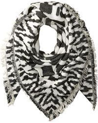 French Connection Multi Geo Patterned Scarf - Gray