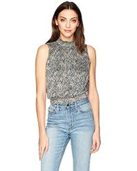 Guess - Sleeveless Aren Smocked Top - Lyst