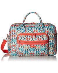 31fe63315d Lyst - Vera Bradley Iconic Weekender Travel Bag