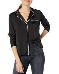 Lucky Brand Maggie Pajama Top - Black