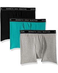 Kenneth Cole Reaction - Underwear Cotton Spandex Boxer Brief, Multipack - Lyst