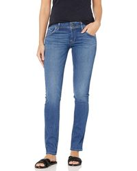 Hudson Jeans Collin Mid Rise Skinny Fit Flap Pocket Ankle Jean - Blue