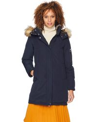 Vince Camuto Thigh Length Heavy Weight Contemporary Dowm Jacket - Blue