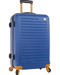 Nautica Hardside Spinner Wheels Luggage-24 Inch Expandable Travel Suitcase - Blue
