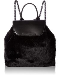 Kendall + Kylie Poppy-black Faux Fur