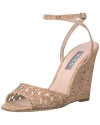 SJP by Sarah Jessica Parker Boca Wedge Ankle Strap Sandal - Natural