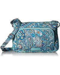 Vera Bradley Womens Iconic Rfid Little Hipster - Blue