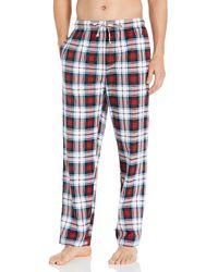 Nautica Cozy Fleece Plaid Pajama Pant Pyjamahose - Mehrfarbig