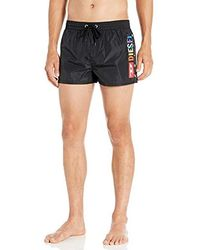 DIESEL Sandy 2.017 Swim Trunk Boxer Short - Black