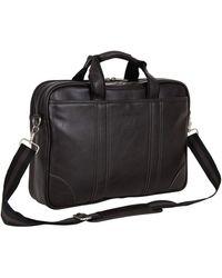 "Ben Sherman Faux Leather Slim 15.6"" Laptop & Tablet Business Case Bag - Brown"