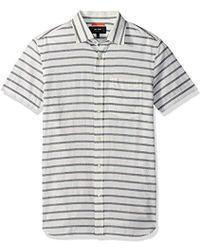 Jack Spade - Berber Strip Short Sleeve Poplin Shirt - Lyst