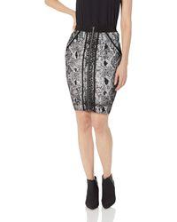 Guess Snake Foil Mirage Skirt - Black