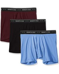 Multipack Kenneth Cole New York Mens Underwear Cotton Spandex Trunk