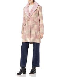 Steve Madden Wool Fashion Coat - Pink