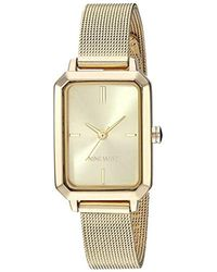 Nine West Gold-tone Mesh Bracelet Watch, Nw/2342chgp - Metallic