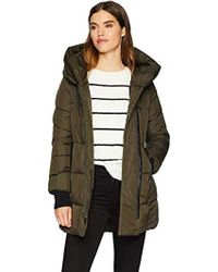 French Connection - Pillow Collar Puffer (olive) Women's Coat - Lyst
