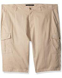 Sean John - Solid Linen Cargo Shorts - Lyst